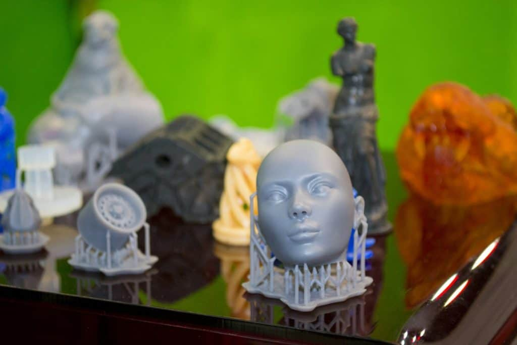 Resin printed objects