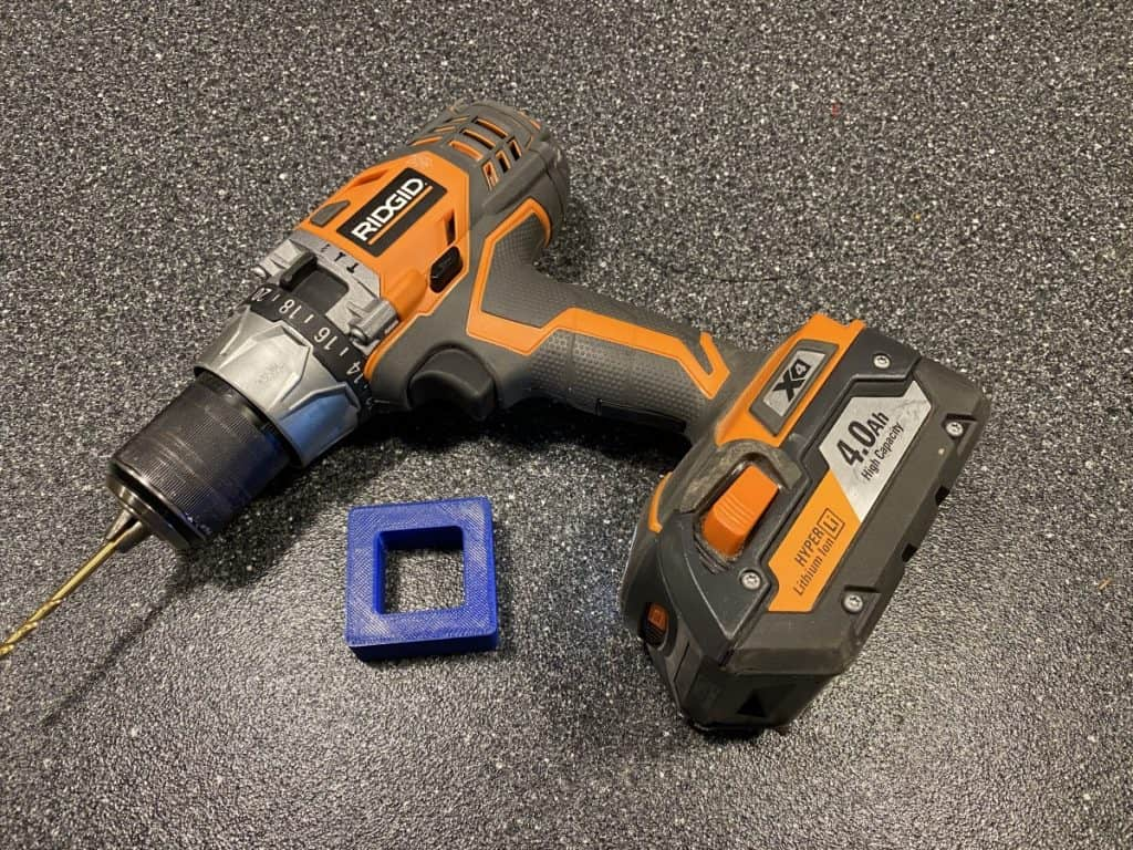 Drill with printed part