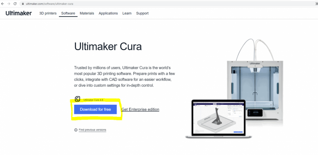 cura download page