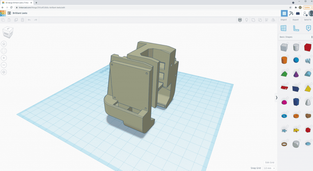 tinkercad with object 1
